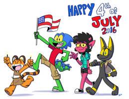 Happy 4th of July 2016 by Jurassiczalar