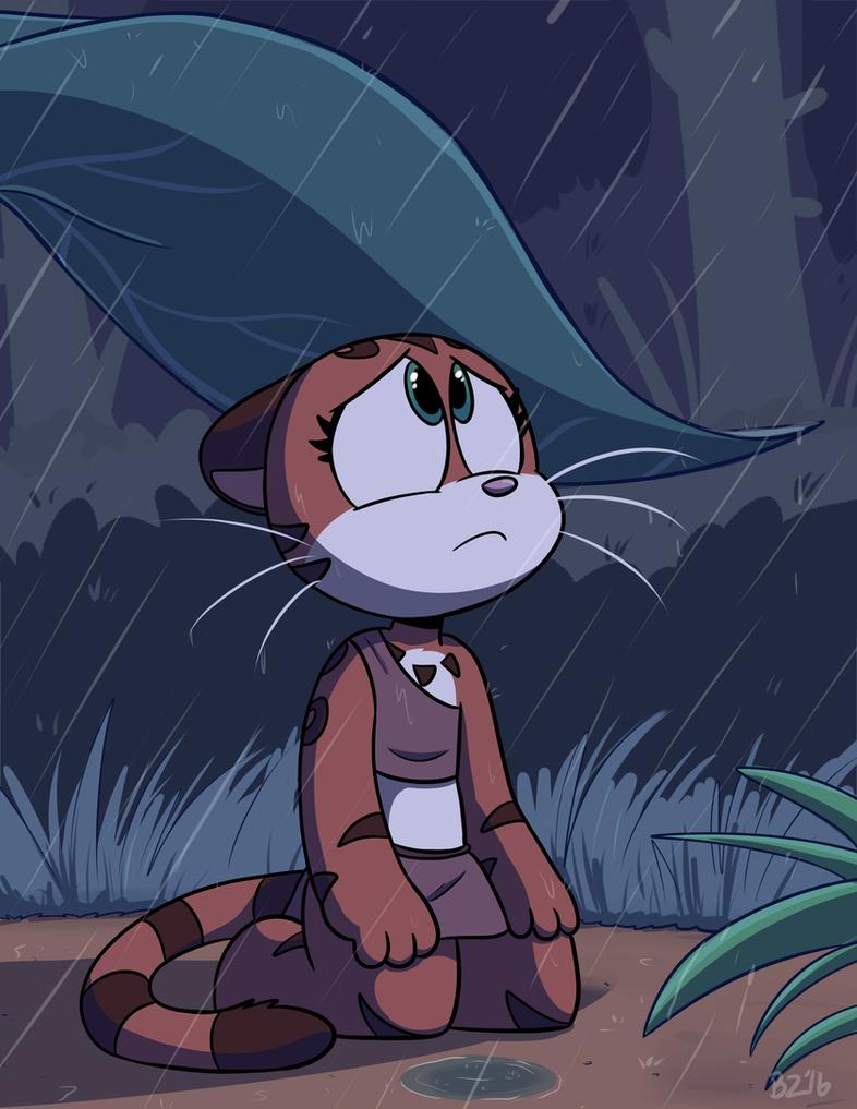 Kiki:Rain by Jurassiczalar