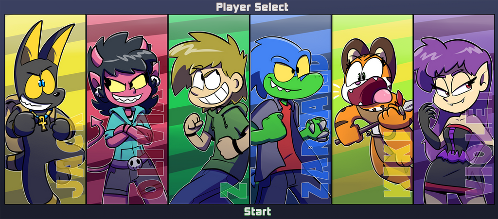 Ztoons Rumble: Player Select
