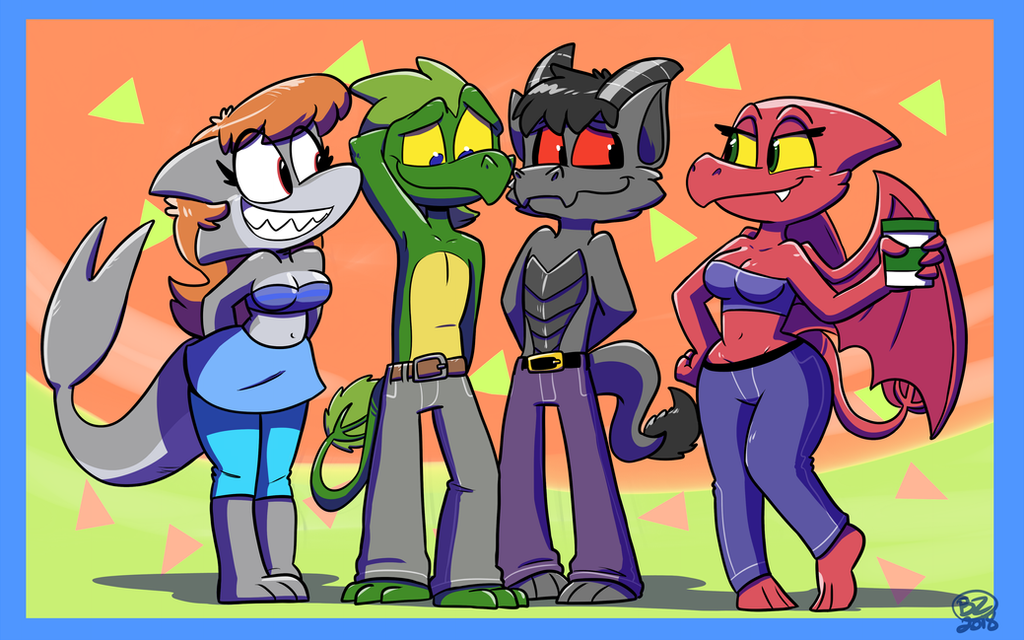 Commission: Dracko Crew by Jurassiczalar