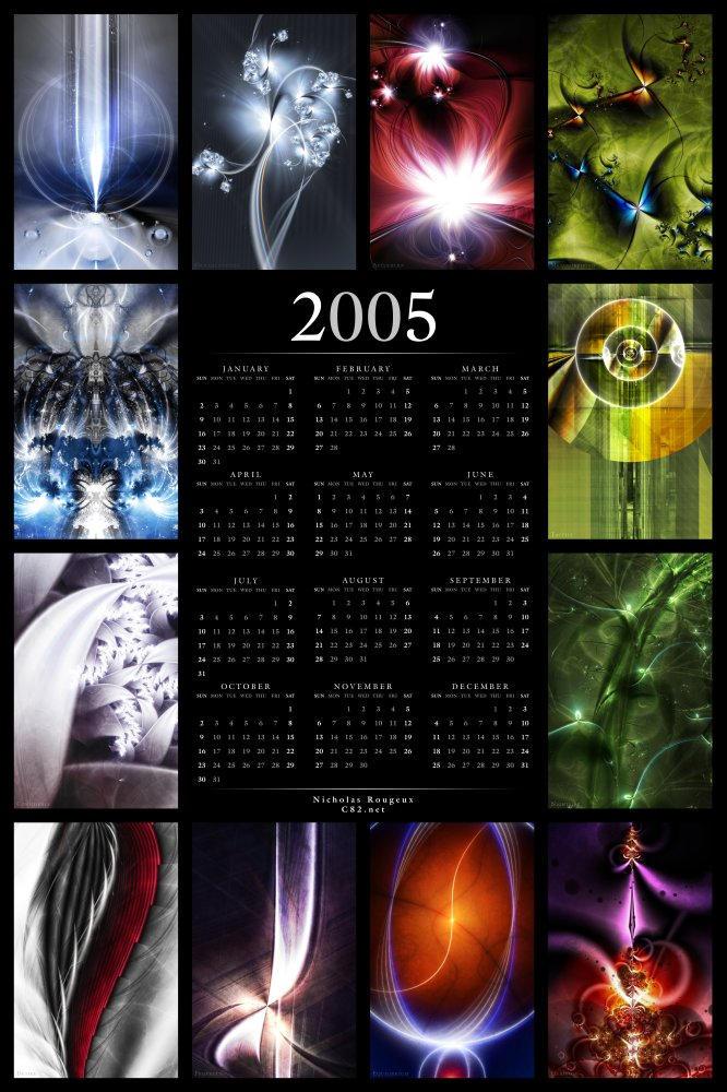 2005 Fractal Calendar v1 by rougeux