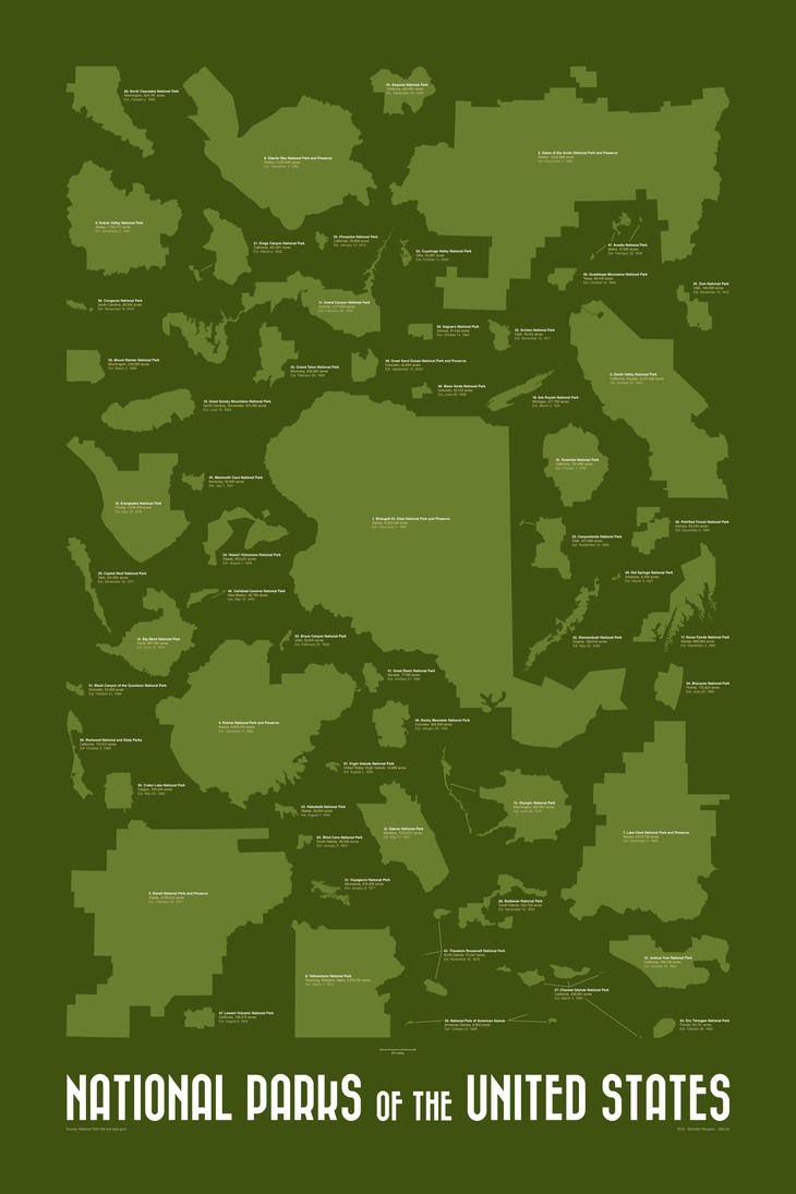 National Parks of the United States by rougeux