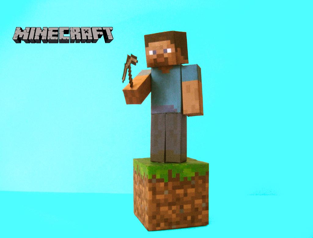 Minecraft Papercraft - Steve by poethetortoise
