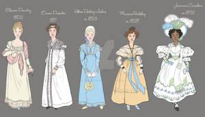 Detail of Timeline of Spring Fashion: 1802-1832