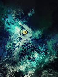 Obsidian Owl by MAELSTROMSTUDIO