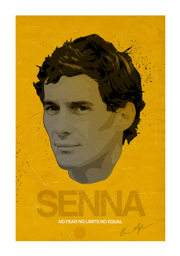 Ayrton Senna Vector Illustrati by Monzer