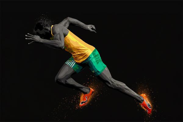 Usain Bolt Vector Print by Monzer