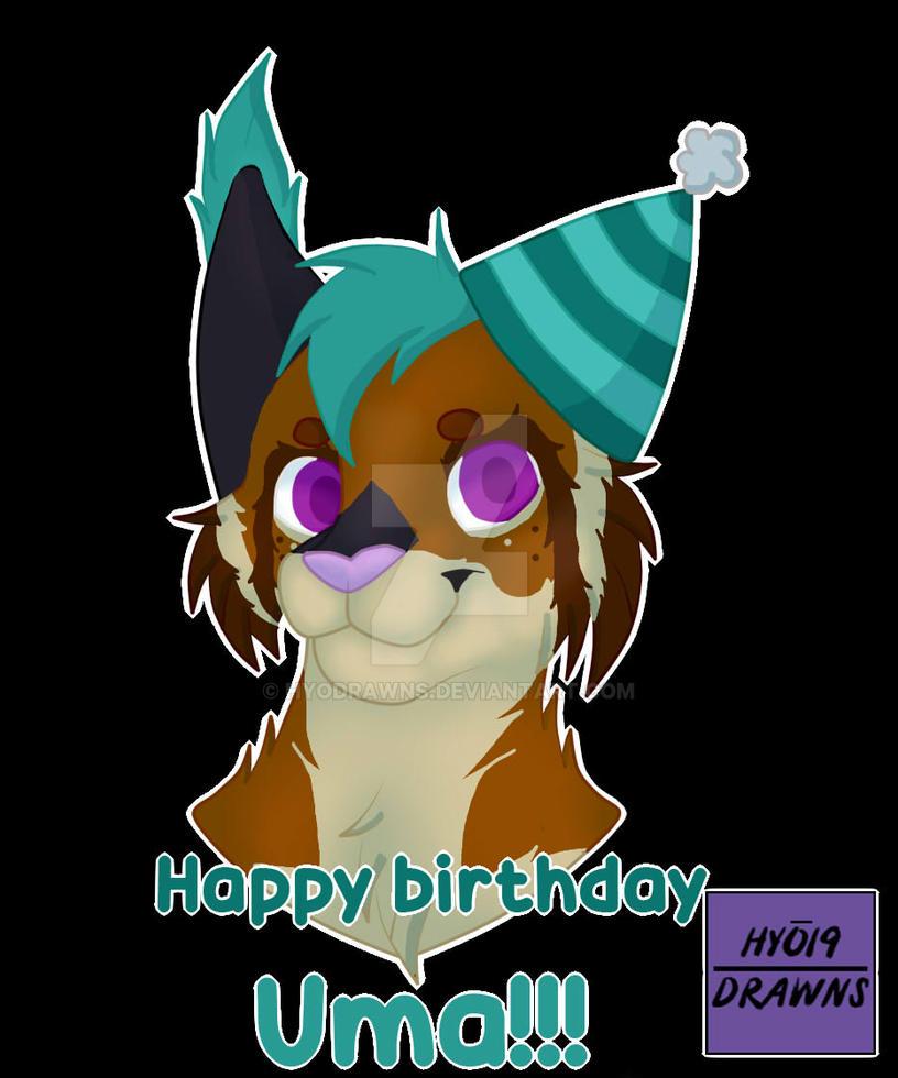 Happy Birthday Uma By Hyodrawns On Deviantart