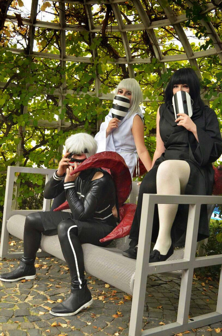 Kurona, Nashiro and Kaneki Cosplay FBM 2015 by BlackBloodFire