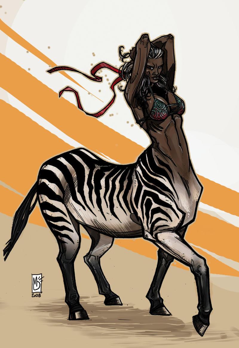 Lady AfroCentaur by renokid