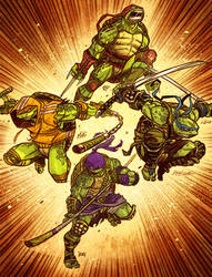 Ninja Turtles! -Cowabunga TEAMup- by renokid