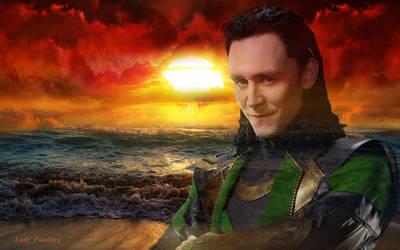 Loki - Sunset by Algambra-Drakon
