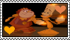 Beauty And The Beast - Lumiere X Cogsworth Stamp by Skowlah