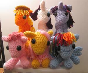 My Little Pony - Mane 6 by kaerfel