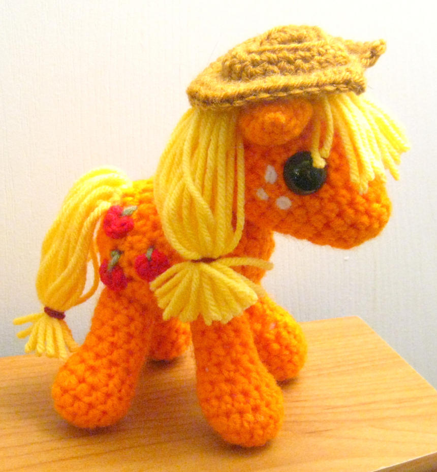 Applejack Plush - New and Improved Version by kaerfel