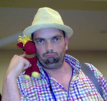 Peter New with Big Macintosh at Everfree NW 2013