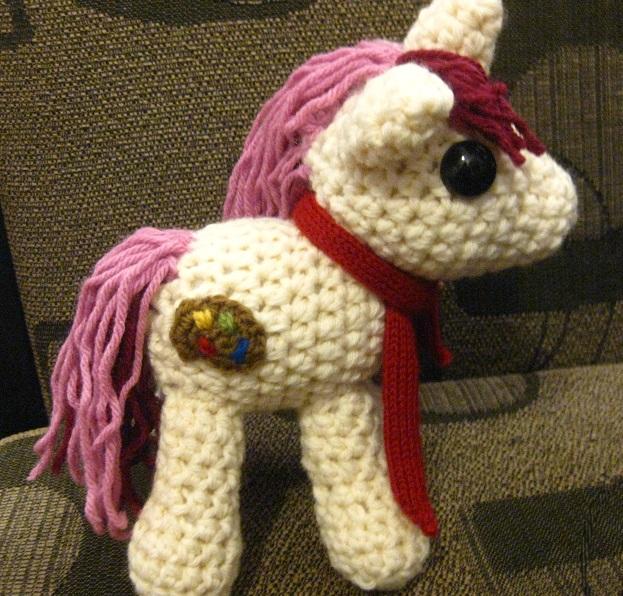 OC Pony Plushie - Red Palette by kaerfel