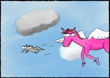 2021-01-07 - Pegasus and Bird