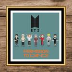 BTS Permission to Dance Cross Stitch Pattern 1 by kaerfel