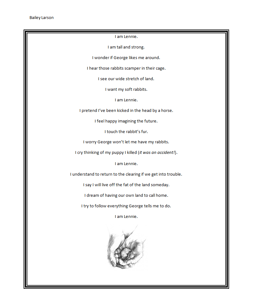 Of Mice and Men I Am Poem by PsychoKay on DeviantArt