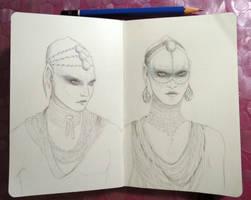 Sketchbook - The Pearls (Valerian)