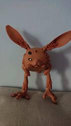 Patchmist rabbit, three eye rabbit by ZenNekoSan