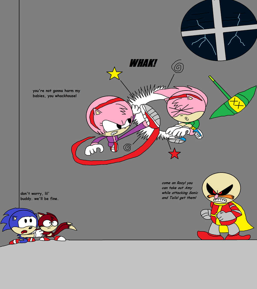 Scene from the aosth movie amy vs rosy by thekirbykrisis on
