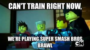 Ninjas playing SSBB