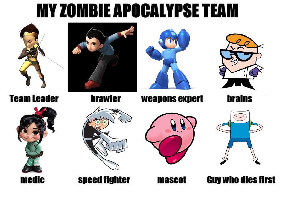 Zombie Apocalypse Team by thekirbykrisis