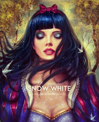 Snow White - Digital Realistic Portrait by lauraypablo