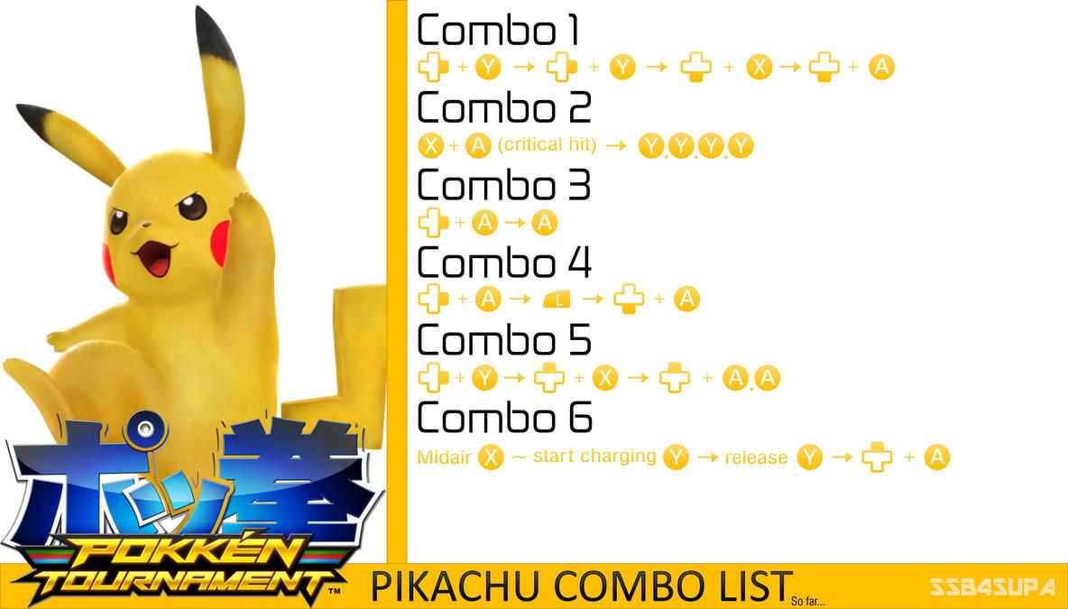 Pokken Tournament] Pikachu's Combo List by SSB4Supa on DeviantArt