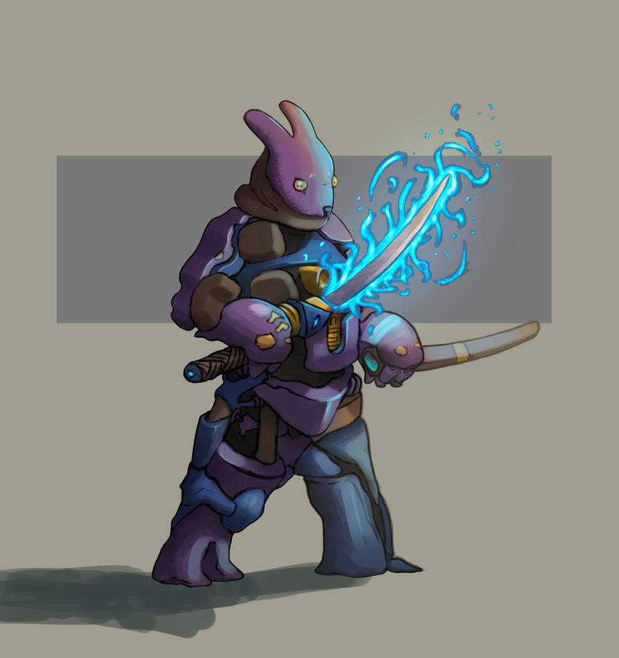Bunny Warrior by carmorafael