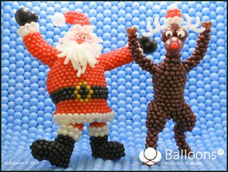 Drunk Santa and Rudolph