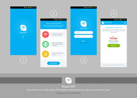Skype WiFi Android App by dxgraphic