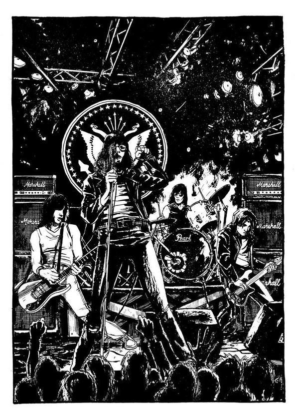 Ramones, 1990 by B3NN3TT