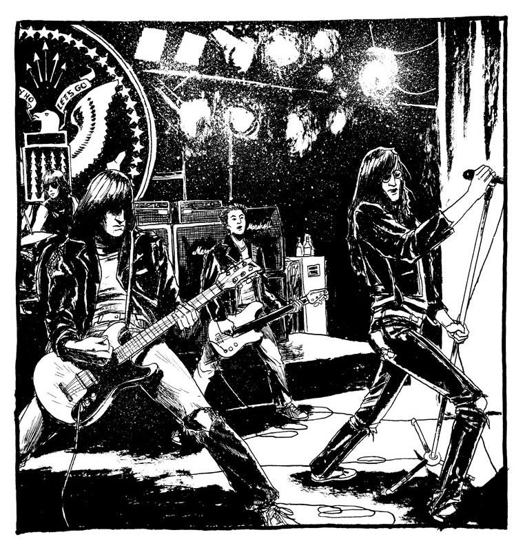Ramones 1991 by B3NN3TT