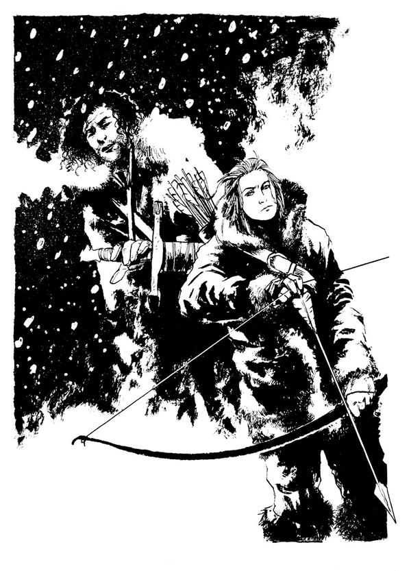 Commission - Jon Snow and Ygritte by B3NN3TT