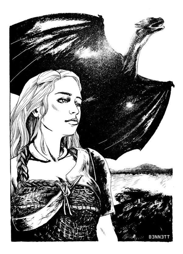 Commission: Khaleesi by B3NN3TT