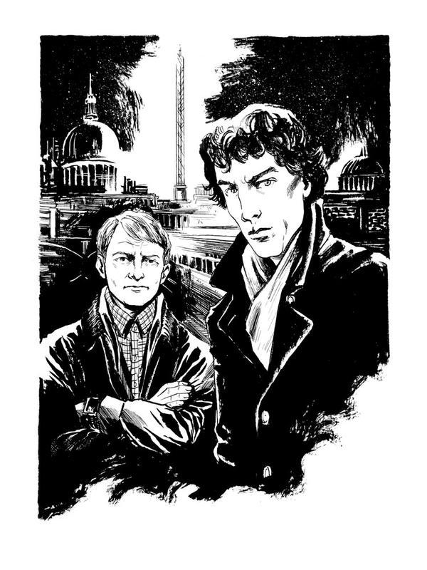 Con sketch - Sherlock by B3NN3TT