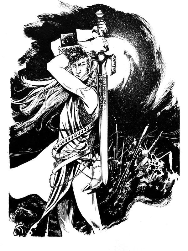 Con sketch - Elric of Melnibone by B3NN3TT