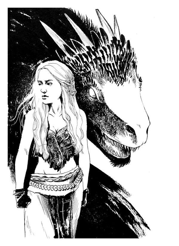 Con Sketch - Khaleesi by B3NN3TT