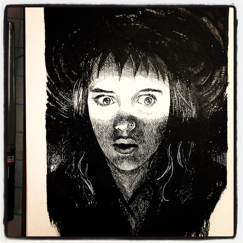 Inktober 2017 #6 re-do - Lydia Deetz by B3NN3TT