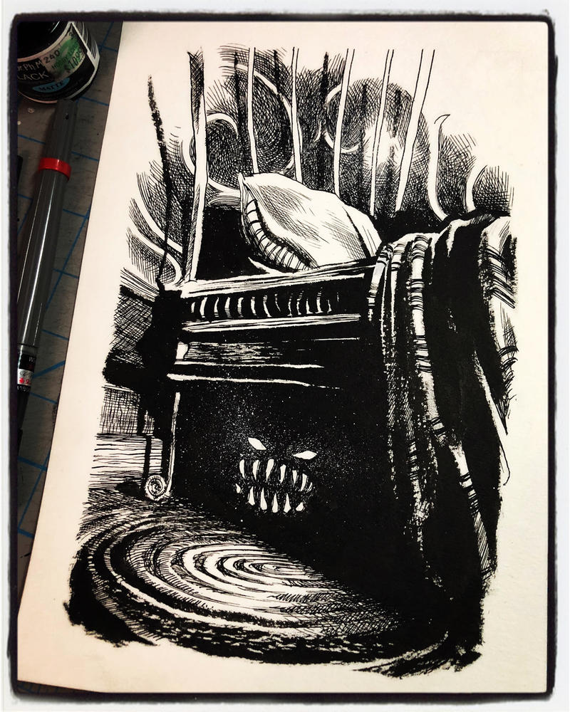 Inktober 2018 Day II - One Hiding Under Your Bed