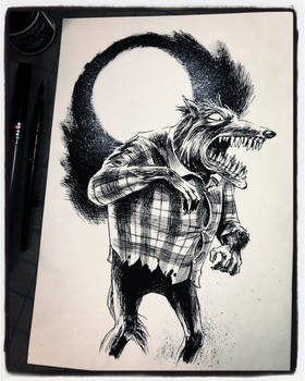 Inktober 2018 Day XII - the Wolf Man