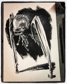Inktober 2018 Day XIX - Bat Boy