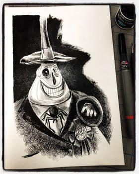 Inktober 2018 Day XXI - Mayor of Halloween Town 2