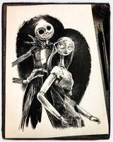 Inktober 2018 Day XXXI - Jack and Sally by B3NN3TT
