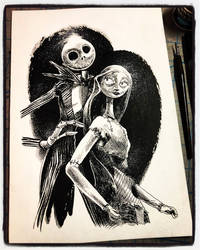 Inktober 2018 Day XXXI - Jack and Sally by B3NN3TT