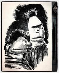 Inktober 2019 Day 22: Ernie and Bert