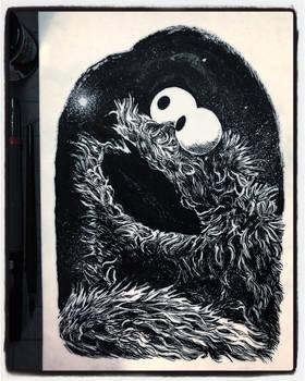 Inktober 2019 Day 23: Cookie Monster